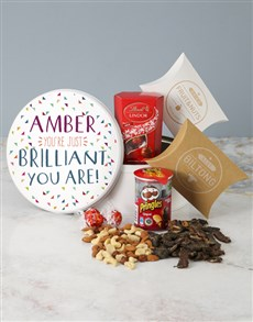 gifts: Personalised Brilliant You Are Gourmet Tin!