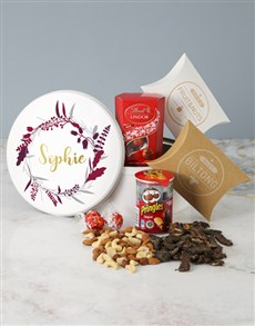 gifts: Personalised Feather Wreath Gourmet Tin!