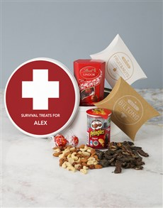 gifts: Personalised Survival Gourmet Tin!