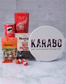 gifts: Personalised Floral Name Gourmet Tin!