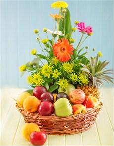 gifts: Fruit and Flower Hamper!
