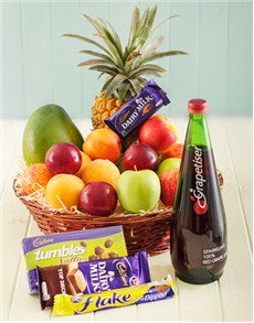 gifts: Fruit with Cadbury and Sparkling Juice Treat!