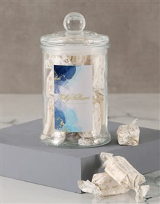 gifts: Sally Williams Blue Nougat Candy Jar!