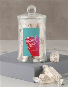 gifts: Thank You Blue Nougat Candy Jar!