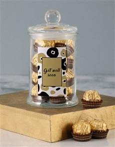 gifts: Gold Get Well Soon Ferrero Candy Jar!