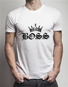 gifts: Boss Crown White T Shirt!