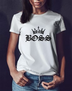 gifts: Boss Crown Ladies White T Shirt!