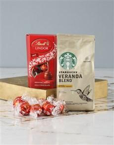 gifts: Starbucks and Lindt Hamper!