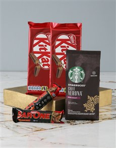gifts: Starbucks and Nestle Hamper!