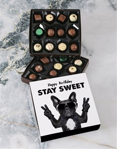 gifts: Stay Sweet Happy Birthday Double Choc Tray!