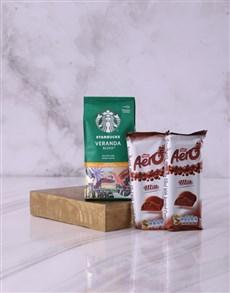 gifts: Starbucks and Aero Hamper!