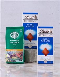 gifts: Starbucks and Lindt Slab Hamper!