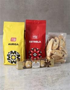 gifts: Cookies And Chocolate Vida Coffee Hamper!