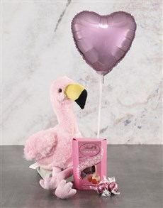gifts: Flamingo Plush And Pink Balloon Hamper!