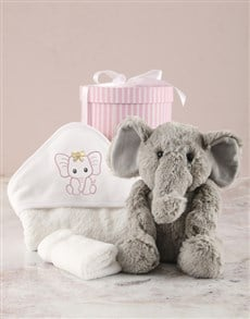 gifts: Plush Toy and Pink Bath Goodies Baby Hamper!