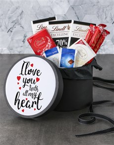 gifts: With All My Heart Lindt Hat Box!