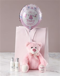 gifts: Pink Plush Teddy Bath Time Gift!