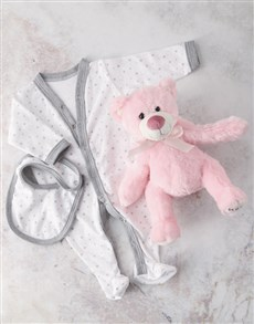 gifts: Pink Shiny Star Baby Gift Hamper!