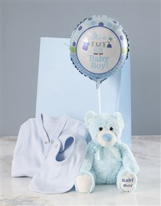 gifts: Blue Teddy Bear And Balloon Surprise!