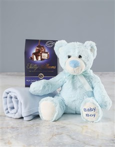 gifts: Blue Teddy Bear Goodie Gift Box!