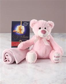 gifts: Pink Teddy Bear Goodie Basket!