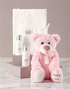 gifts: LOccitane Baby Girl Plush Teddy Bear Gift!