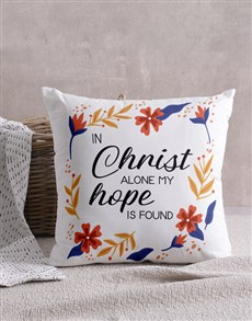 gifts: In Christ Alone Scatter Cushion!