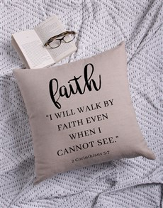 gifts: Walk By Faith Scatter Cushion!