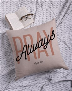 gifts: Pray Always Scatter Cushion!
