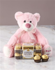 gifts: Gorgeous Girl Teddy With Ferrero Rocher!