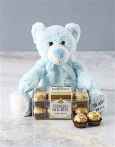gifts: Beautiful Boy Teddy With Ferrero Chocolates!