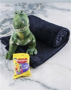 gifts: Denim Blue Blanket And Dino Hamper!