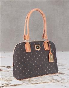 gifts: Polo Freedom Iconic Brown Dome Handbag Set!