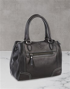 gifts: Polo Andes Leather Black Shopper Set!