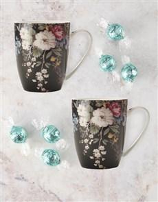 gifts: Maxwell And Williams Midnight Blossom Mug Set!