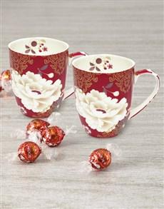 gifts: Maxwell and Williams Red Kimono Mug Set!