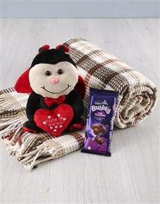 gifts: Lovebug Teddy And Blanket Set!