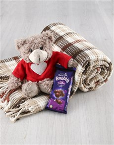 gifts: Cuddle Love Teddy And Blanket !
