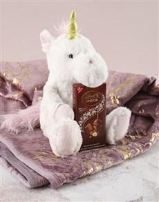 gifts: Cuddle Unicorn Teddy And Blanket Set!