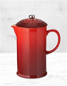 gifts: Le Creuset Cherry Coffee Pot !