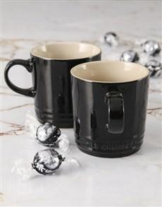 gifts: Le Creuset Black Cappuccino Mug Set!