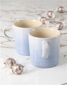 gifts: Le Creuset Coastal Blue Cappuccino Mug Set!