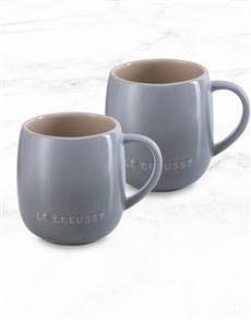 gifts: Le Creuset Mist Grey U Mug Hamper!