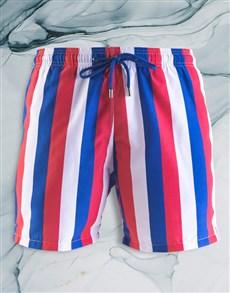 gifts: Breazies Royal Blue Striped Swim Shorts!
