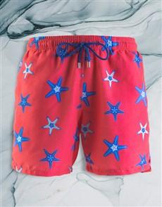 gifts: Breazies Coral Starfish Swim Shorts!