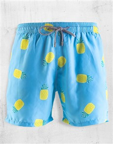 gifts: Breazies Baby Blue Pineapples Swim Shorts!