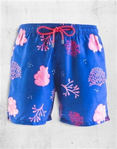 gifts: Breazies Royal Blue Coral Swim Shorts!