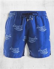 gifts: Breazies Navy Seaplanes Swim Shorts!