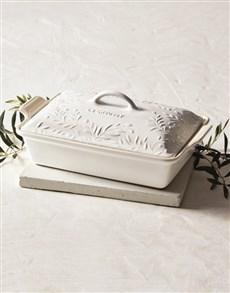 gifts: Le Creuset Olive Branch Server!