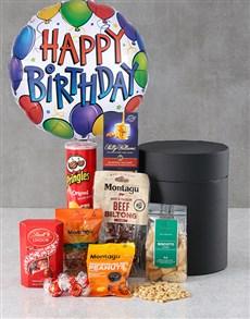 gifts: Happy Birthday Snack Balloon Hat Box !